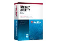 McAfee Internet Security 2013 - Subscription upgrade package ( 1 year ) - 3 PCs - Win - English - National Retail MIS13UMR3RDA