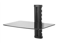 Peerless ACWAS1 - Mounting component ( shelf ) for audio/video components - toughened glass - black ACWAS1/BK