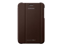 Samsung EFC-1G5S - Protective cover for web tablet - amber brown - for Samsung Galaxy Tab 2 (7.0), Galaxy Tab 2 (7.0) WiFi EFC-1G5SAEC