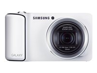 EK-GC100ZWABTU - Samsung GALAXY EK-GC100 - Digital camera - compact - 16.3 Mpix - 21 x optical zoom - flash 8 GB - Wi-Fi, 3G - white EK-GC100ZWABTU