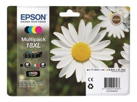 Epson 18XL Multipack - Print cartridge - 1 x black, yellow, cyan, magenta - blister with RF/acoustic alarm - for Expression Home XP-102, XP-202, XP-205, XP-30, XP-302, XP-305, XP-402, XP-405, XP-405WH C13T18164020