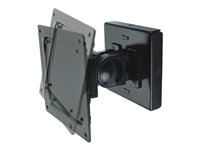 "NewStar FPMA-W100 - Mounting kit ( wall mount ) for LCD display ( Tilt & Swivel ) - black - screen size: 10"" - 24"" - mounting interface: 100 x 100 mm, 75 x 75 mm FPMA-W100"