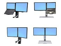 "97-616 - Ergotron WorkFit Convert-to-Dual Kit from LCD & Laptop, for WorkFit-S or WorkFit-C - Mounting kit - screen size: 22"" - for P/N: 24-196-055, 33-340-200 97-616"