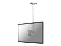 "FPMA-C050SILVER - NewStar FPMA-C050SILVER - Mounting kit ( ceiling mount ) for LCD display - silver - screen size: 10"" - 30"" - mounting interface: 100 x 100 mm, 75 x 75 mm FPMA-C050SILVER"