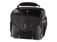 "Hama Camera Bag ""Canberra 110"" - Carrying bag for digital photo camera - nylon, PolyTex - black, blue 00103672"