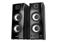 Genius SP-HF1800A - Speakers - For PC - 50 Watt (Total) - 3-way - black wood 31730908102