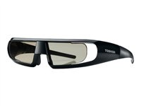 Toshiba - 3D glasses - active shutter - glass, resin - for Toshiba 32TL838, 40TL838, 42WL863, 42YL863, 46TL838, 46YL863, 55, 55WL863, 55YL863 FPT-AG02G