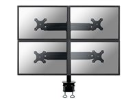 "FPMA-D700D4 - NewStar FPMA-D700D4 - Mounting kit ( desk clamp mount ) for 4 LCD displays - black - screen size: 19"" - 27"" - mounting interface: 100 x 100 mm, 75 x 75 mm FPMA-D700D4"